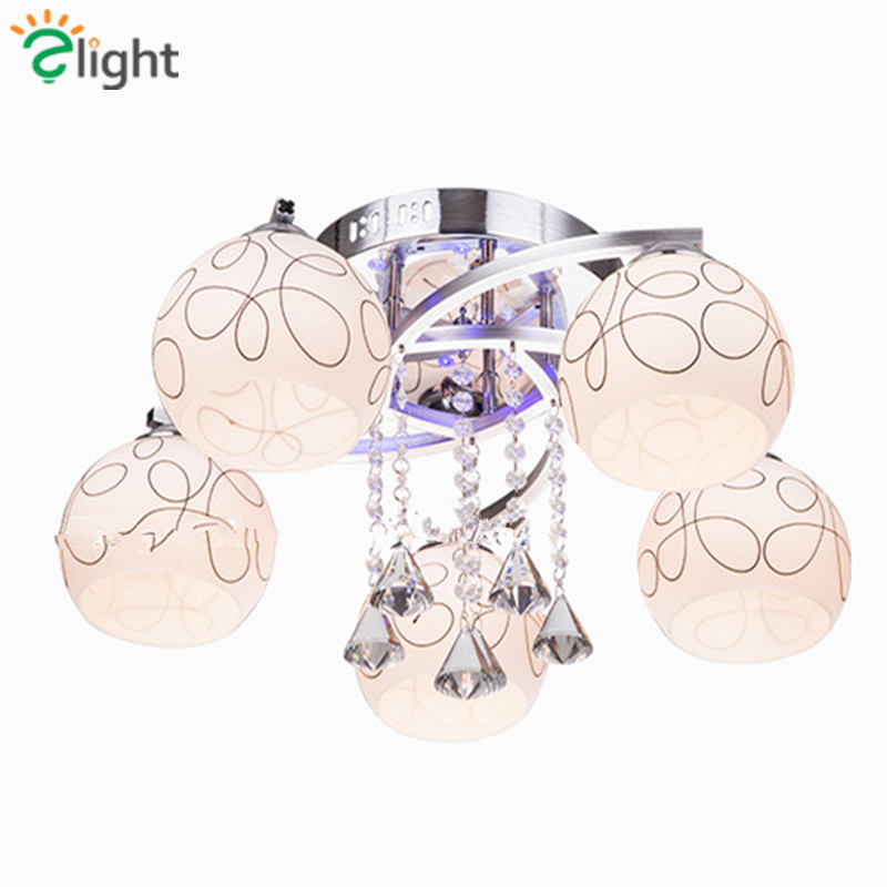 2016 Modern Simple Living Room Frosted Glass Dimmable Led Chandelier Lustre De Cristal Ceiling Chandelier For Bedroom modern chandelier e27 2028 3 5 heads frosted glass led chandelier for living room bedroom kitchen dining room ceiling chandelier