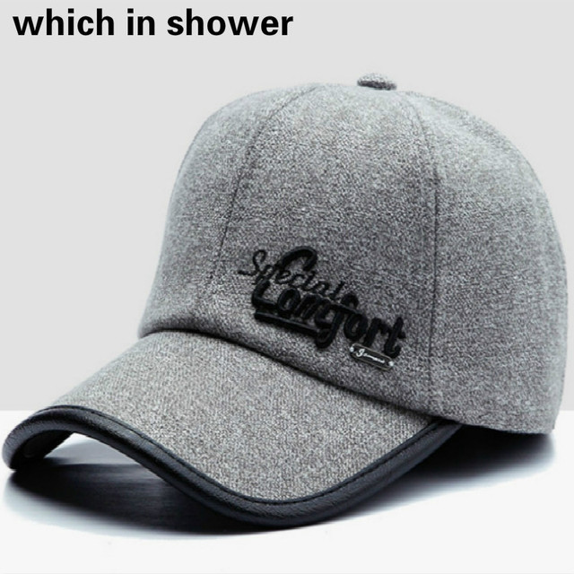 4e6e52fa349 Winter Snapback Hat With Earflap Man Thickened Warm Autumn Baseball Cap  Outdoor Windproof Ear Flap Vintage Trucker Hat Cap Bones