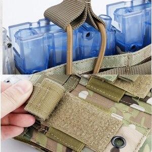 Image 5 - Nowy 1000D Nylon wojskowy Paintball sprzęt taktyczny trzy otwarte Top magazyn damska torba szybka AK M4 Famas worek do przechowywania