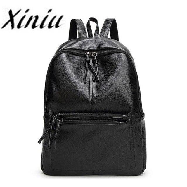 a4109541ad46 Top brand XINIU backpack women double zipper mochila escolar super quality  mochila feminina school bags for teenagers gift  yl