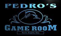 X0178-tm Педро Рыбалка игровая комната пользовательских персонализированные имя неоновая вывеска; оптовая продажа; Прямая поставка; включения...