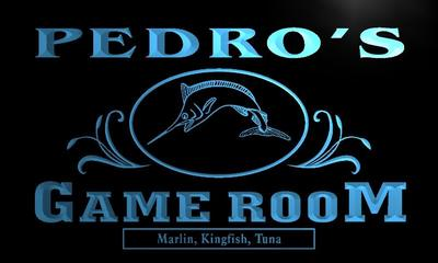 x0178-tm Pedros Fishing Game Room Custom Personalized Name Neon Sign Wholesale Dropshipping On/Off Switch 7 Colors DHL