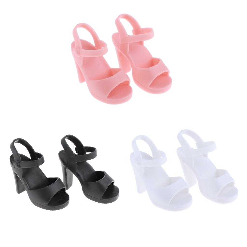 Handmade Plastic Doll High Heel Shoes for 1//4 BJD Dolls DIY Dress up Black