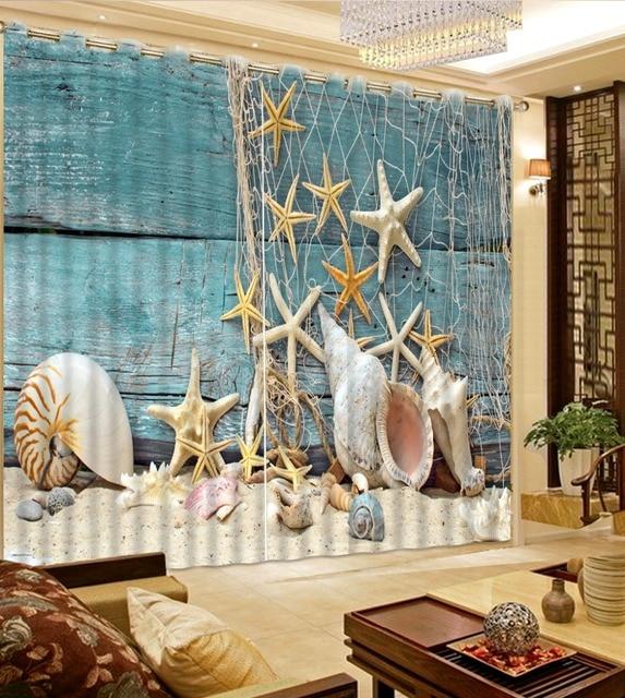 Foto Schalentiere Stern Sand Net Vorhange Fur Wohnzimmer Coole Mode