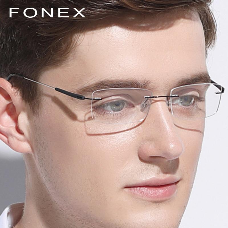 Rimless Glasses Frame Men Women Titanium TR90 Ultralight Frameless Eye Prescription Optical Korean Screwless Eyewear Eyeglasses