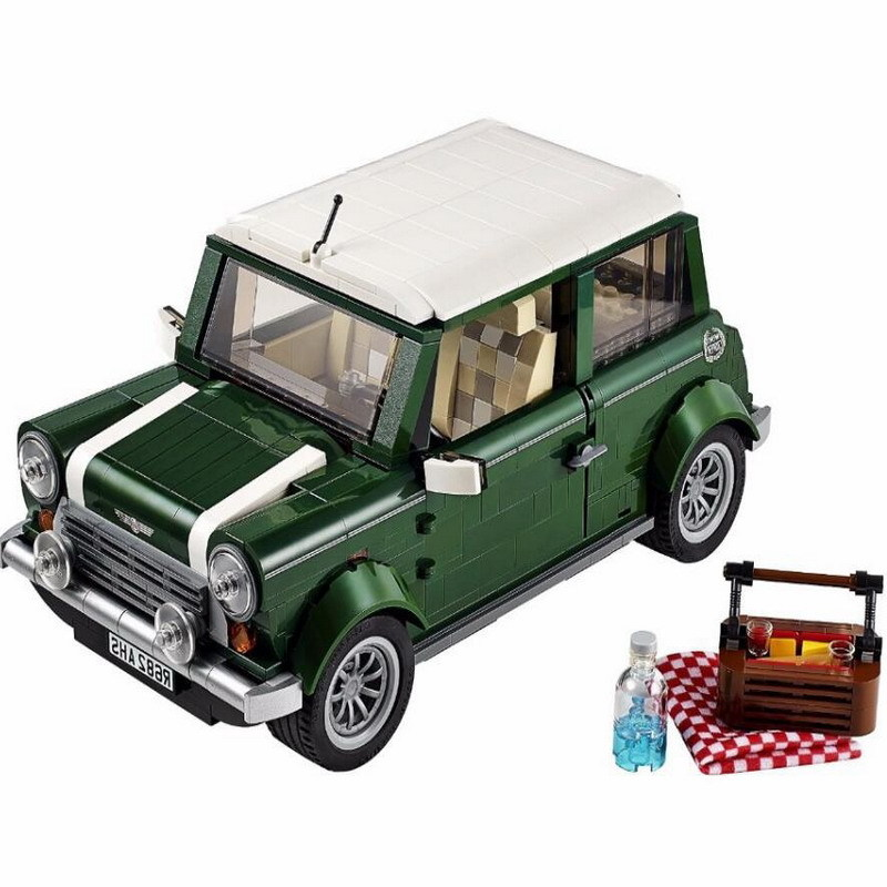 1108pcs Diy City Street Creators Expert Mini Cooper Model Building Blocks Compatible With Legoingly Bricks Toys For Children legoingly city road base plate straight crossroad curve t junction street baseplate building blocks bricks toys for children