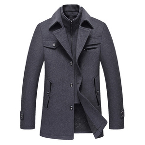 Image 3 - BOLUBAO Men Winter Wool Coat Mens New High Quality Solid Color Simple Blends Woolen Pea Coat Male Trench Coat Casual Overcoat