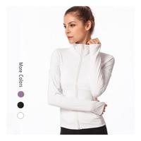 Women Slim zipper yoga jacket gym fitness sport top Running coat long sleeved seamless yoga shirt Nepoagym female sport shirts