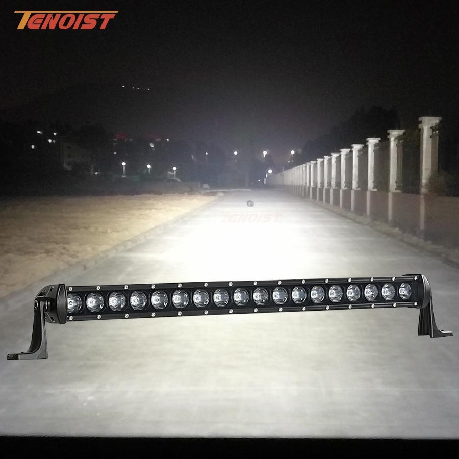 New 27.6 Inch 7D Combo Lens 54W LED Light Bar For Car SUV Truck Offroad 4*4 BUS Truck 12V 24V