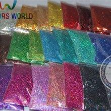 24 лазерные голографические цвета 0,4 мм Размер блестки для украшения ногтей и другие DIY аксессуары
