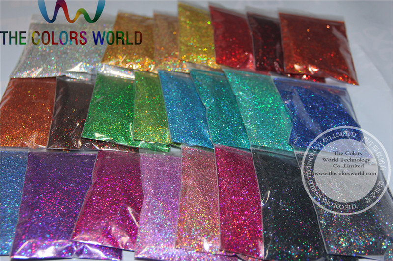 24 Laser Holographic Colors 0.4MM size glitter  for nail decoration and others DIY Accessories plastic standing human skeleton life size for horror hunted house halloween decoration