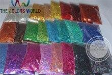 24 cores holográficas do laser brilho do tamanho de 0.4mm para a decoração do prego e outros acessórios diy