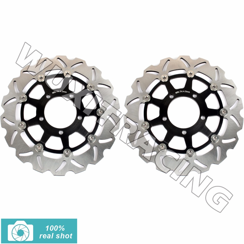 1Pair Front Brake Discs Rotors for KAWASAKI VERSYS / ABS 650 Z 750 /R/ABS VERSYS 1000/ABS 15 16 Z 1000 SX/ABS 07-15 ZX10 R 04-07