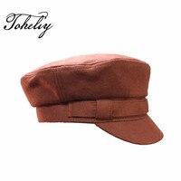 Warm High Quality Fashion Artist Woollen Material Women Men Beret Flat Hat For Women Cap Female