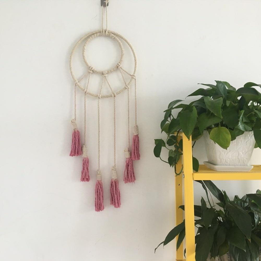 Beautiful Handmade Macrame Wall Hanging Decor Bedroom Home Decor Retro Nordic Kids Craft Handcrafted Girls Room Indian Decor