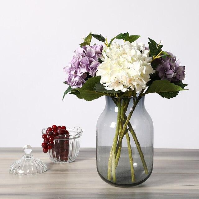 Erxiaobao Artificial Flowers Cheap Silk Hydrangea Bouquet Home Indoor Wedding Autumn Flowers Decoration Accessories Fall Decor
