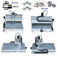 4 оси 800 Вт CNC маршрутизатор 6040 Китай CNC фрезеровочный станок для алюминиевой металлической древесины с собранным и протестированным хорошо