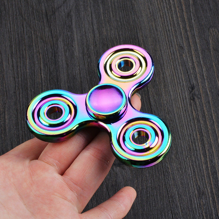 Cool Newest Mini Multicolor Hand Fidget Spinner luxury Colorful color Focus Desk Toy EDC Finger Gyro