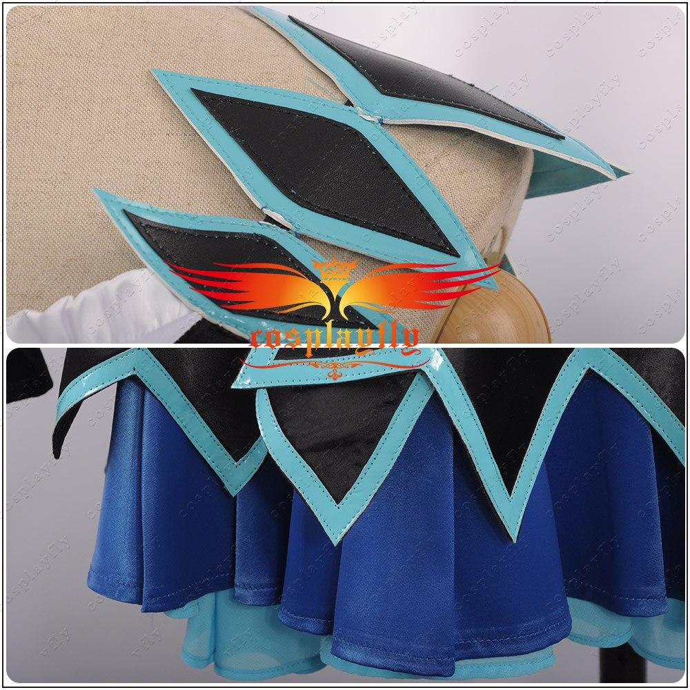 LoveLive! SunShine!! Aqours Matsuura kanan cartes d'activité scène COS filles bleu + noir Cosplay Costume adulte femmes cheveux anneau robe - 5
