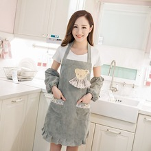 Fashion cute princess apron Waterproof anti oil aprons for woman with pocket multi-use cleaning aprons kitchen cooking Bib Apron