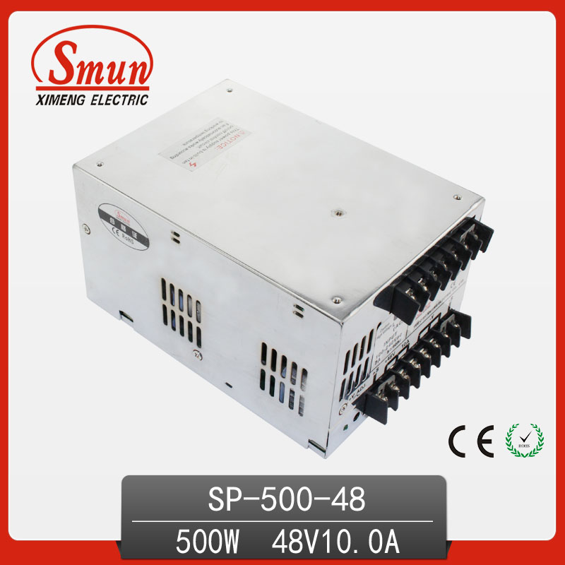500W 48V with PFC Single Output Switching Power Supply with CE ROHS from China Supplier Industrial and Led Used 125a 220v 2p e industrial male plug 3pins with ce rohs 1 year warranty