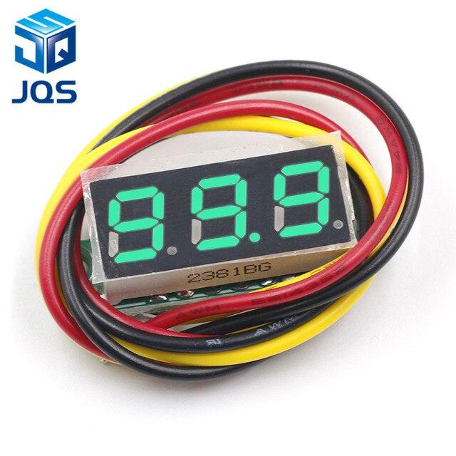 DC 0V-100V 0.28 inch LED Digital Voltmeter Voltage Meter Volt Detector Monitor Tester Panel Car 12V 24V Red Green Blue Yellow 1
