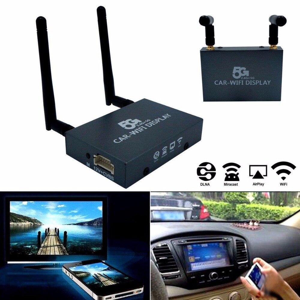 Автомобильный Wifi Дисплей Mirabox 2,4G 5G беспроводной Airplay Miracast DLNA экран зеркальное отображение HDMI разъем автомобильный монитор ключ коробка маршрутизатора - 2