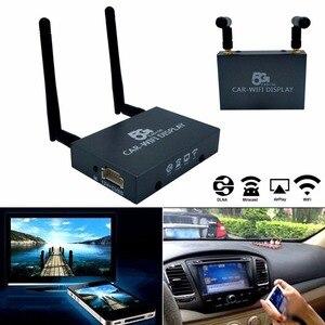 Image 2 - רכב Wifi תצוגת Mirabox 2.4G 5G אלחוטי השמעות Miracast DLNA מסך שיקוף HDMI מחבר רכב צג dongle נתב תיבה