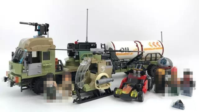 539pcs Military Series Oil Tanker Building Blocks Compatible Lepins Helicopter Weapon Enlighten Bricks Children Toys 0367 sluban 678pcs city series international airport model building blocks enlighten figure toys for children compatible legoe