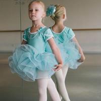כחול מודרני תחפושת ריקוד ג 'אז ילדים למבוגרים ריקוד בלט בלרינה בלט בנות בגד גוף עם שרשרת חרוזים dress