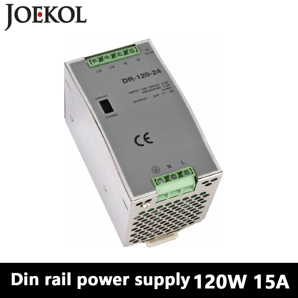 цена на DR-120 Din Rail Power Supply 120W 15V 8A,Switching Power Supply AC 110v/220v Transformer To DC 15v,ac dc converter