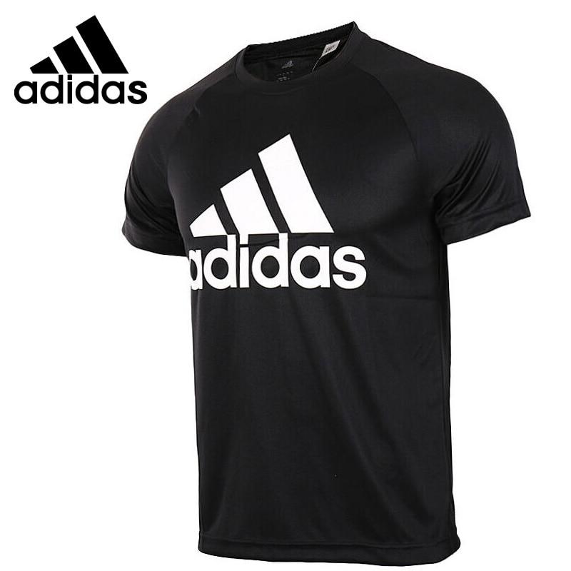 Original New Arrival Adidas D2M TEE LOGO Men s T shirts short sleeve Sportswear