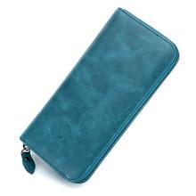 2019 New Women Wallet Genuine Leather Lady Long Wallet Women Card Holder Clutch Coin Pocket Zipper Female Purse Money Bag DC333 недорго, оригинальная цена