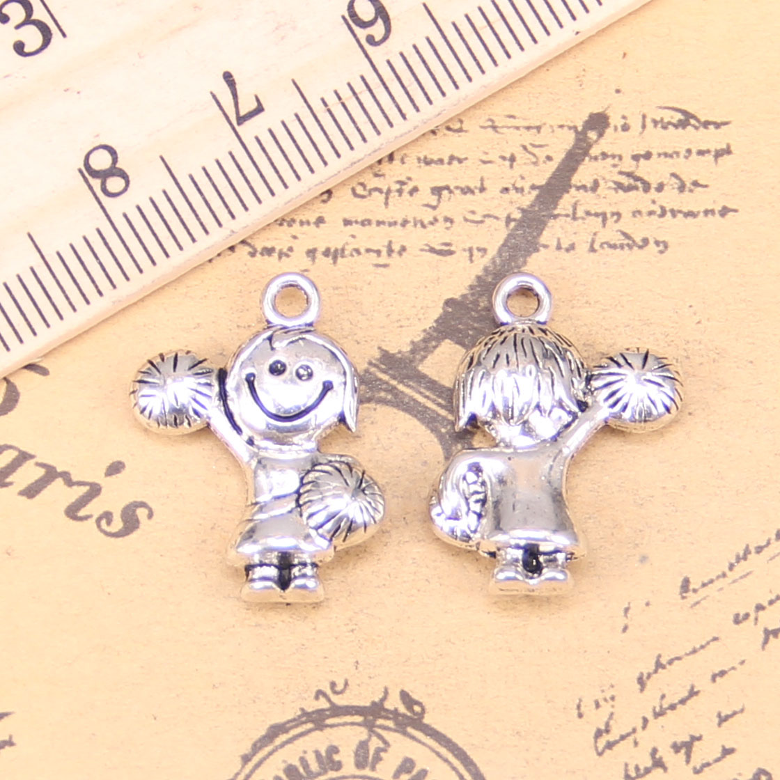 8 pcs CHEER MEGAPHONE CHARMS Tibet silver Charms Pendants DIY Jewellery Making