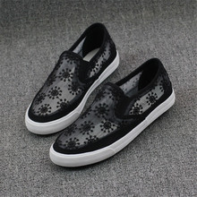 New popular net single shoes Korean ventilation comfortable soft bottom casual women shoes loafers mujeres zapatos