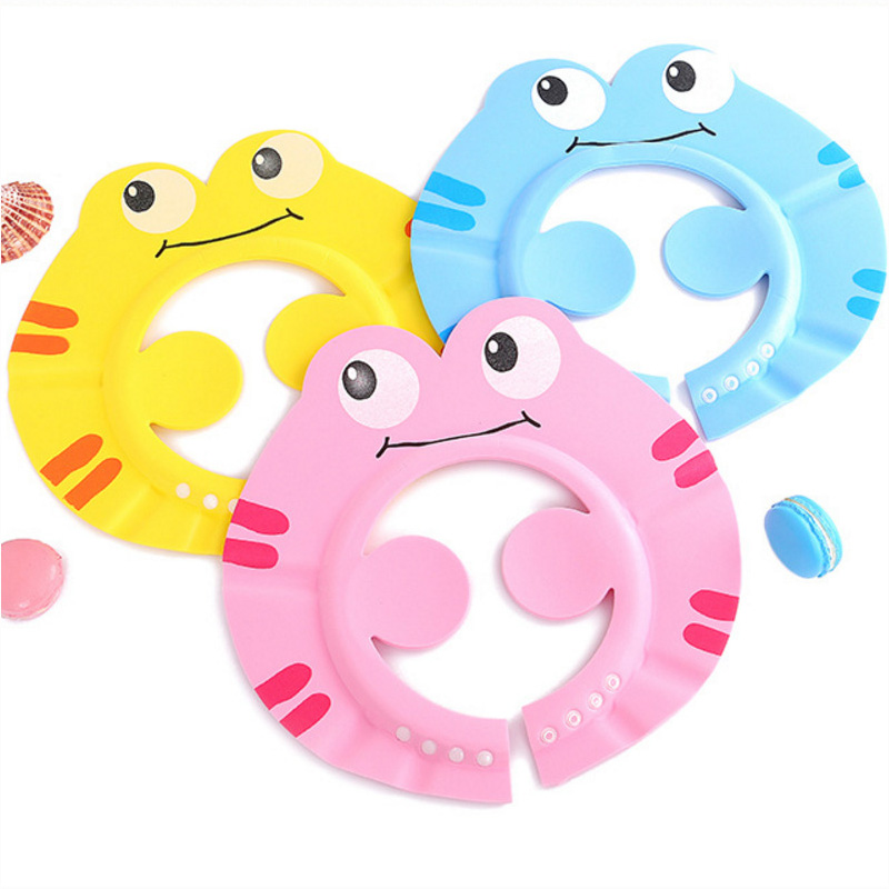 Baby Cartoon Shower Cap Solid Shampoo Bathing Hat Adjustable Hat Toddlers Children Wash Hair Shielder Protector Baby CareBaby Cartoon Shower Cap Solid Shampoo Bathing Hat Adjustable Hat Toddlers Children Wash Hair Shielder Protector Baby Care