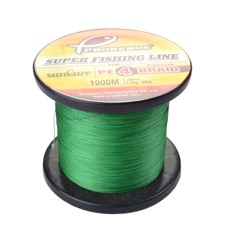Hot Sale 1000m Super Fishing Line 0.8-8# 8LB-100LB PE 4 Stands Braided Wire Fishing Line Multifilament Strong Fishing Line OT085 fighter brand 100m multifilament pe braided fishing line 4 stands 8 60lb fishing line