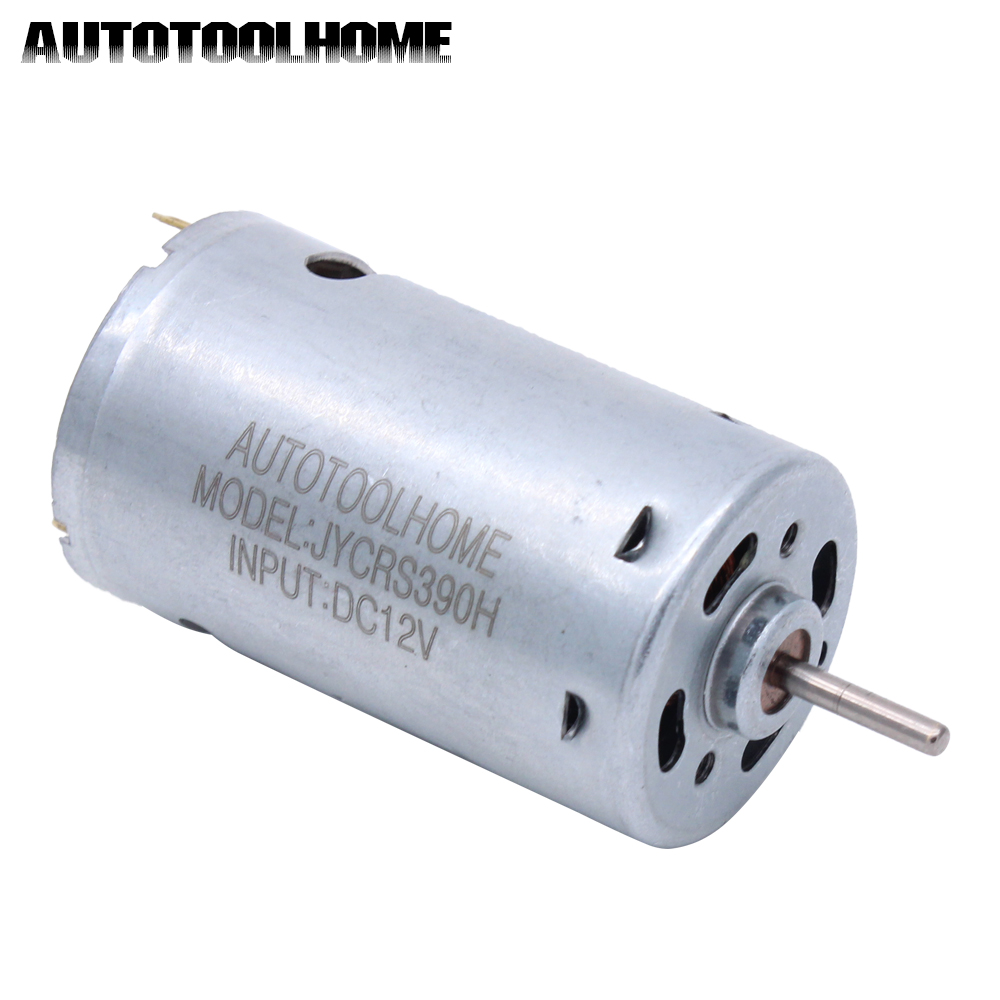 AUTOTOOLHOME 6-12V DC Motor High Torque Gear Carbon Brushes for R/C Power Wheels PCB Electrical Hand Drill Toy Model Tool 2.3mm autotoolhome mini dc 12v electric motor for wood pcb hand drill press drilling 0 5 3mm twist bits and jto chucks bracket stand