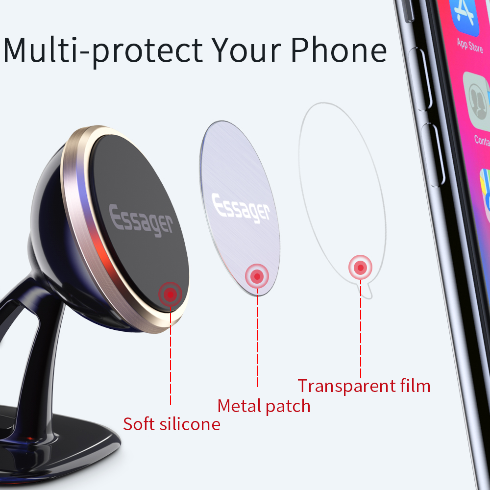 Essager Magnetic Car Phone Holder For iPhone Xiaomi mi 9 Car Holder for Phone in Car Magnet Mount Cell Mobile Phone Holder Stand in Phone Holders Stands from Cellphones Telecommunications