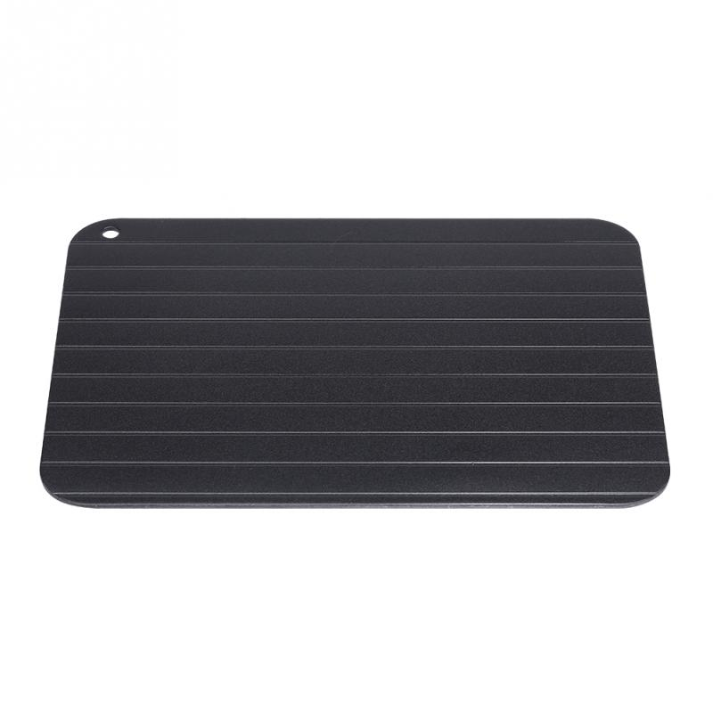 Metal Aluminum Fast Defrosting Tray Safe Food Meat Defrosting Thawing Tray Plate Home Kitchen Defrost Gadget gadget