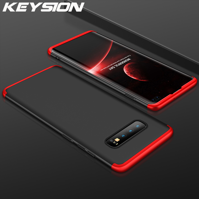 KEYSION 3in1-Case Phone-Cover Hard-Pc Samsung Galaxy Note 10 S10 Plus For 5G S10e S10e