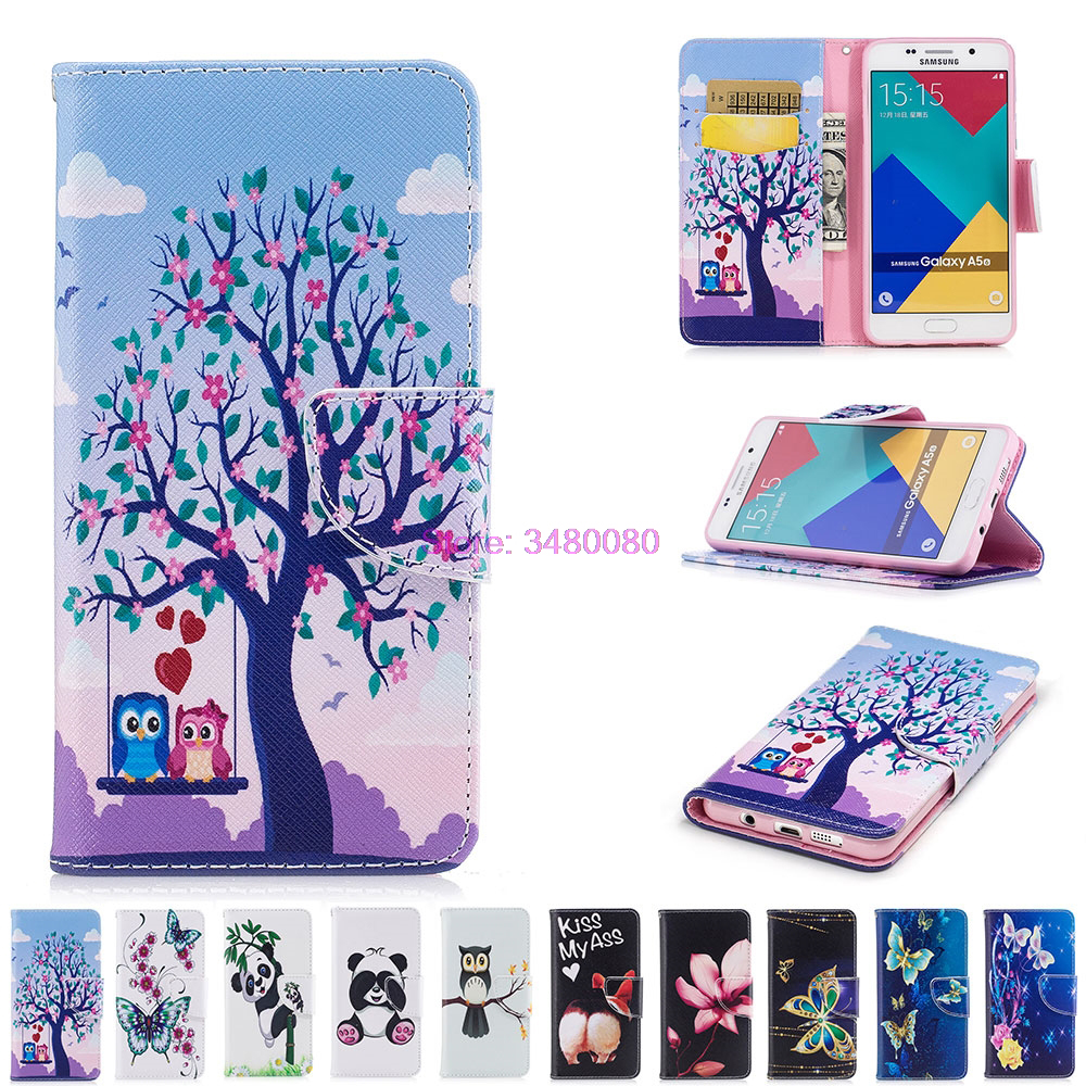 Flip Wallet Case for <font><b>Samsung</b></font> <font><b>Galaxy</b></font> <font><b>A5</b></font> A 5 2016 <font><b>510</b></font> A36 A510 A510F/DS A510Fd SM-A510F SM-A510F Cases Painted Phone Leather Cover image