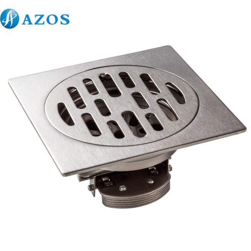 304 Stainless Steel Nickel Brushed Toilet Floor Drain Strainer Grates Waste Bathroom Shower Ground Overflow Fitting PJDL006 mayitr stainless steel linear shower ground floor drain grate mesh sink strainer bathroom tool 900mm