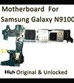 16 gb de doble sim original mainboard para samaung galaxy note 4 n9100 placa de desbloqueo con chip de la placa lógica motherboard