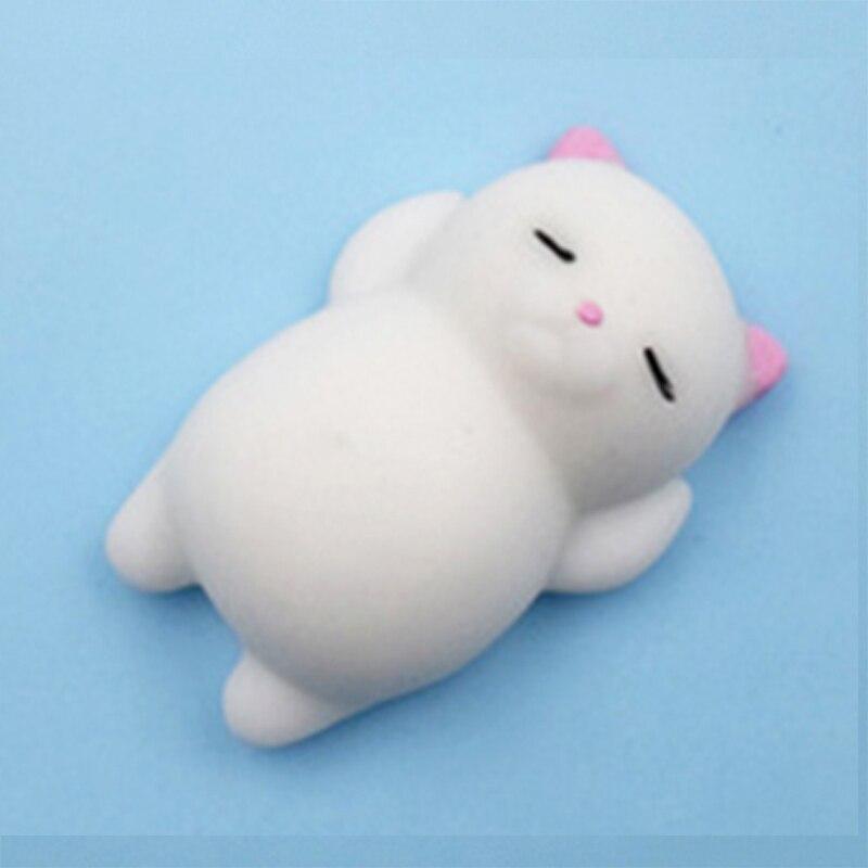 Забавный подарок милые антистрессовые мягкие игрушки милый мягкий силиконовый сжимающий руку детская игрушка Kawaii хлюпает животных Медведь Кролик WY30 - Цвет: WJ0301-NNL