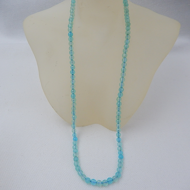 New Design Faceted Blue Aquamarine Necklace,1 Strand,40.7cm In the Lenght 2x2mm 8.88g Beautiful Beads Jewelry Accessories