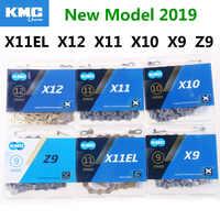 Neue KMC Bike Kette X11EL X12 X11 X10 X9 Z9 Fahrrad Kette 10 Speed Straße MTB Kurbel Shimano/SRAM 8 9 10 11 12 s Schaltwerk 116L