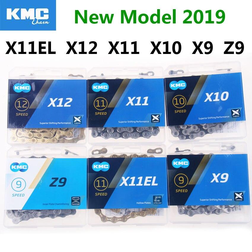 Nuevo KMC cadena de bicicleta X11EL X12 X11 X10 X9 Z9 bicicleta cadena 10 velocidad MTB Carretera platos y bielas Shimano/SRAM 8 9 10 11 12 s cambio 116L