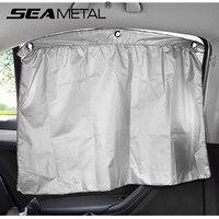 SEAMETAL Car Sun Shades Windshield Sunshade Visor Cover UV Reflector For 4 Seasons Privacy Protection Auto Interior Accessories