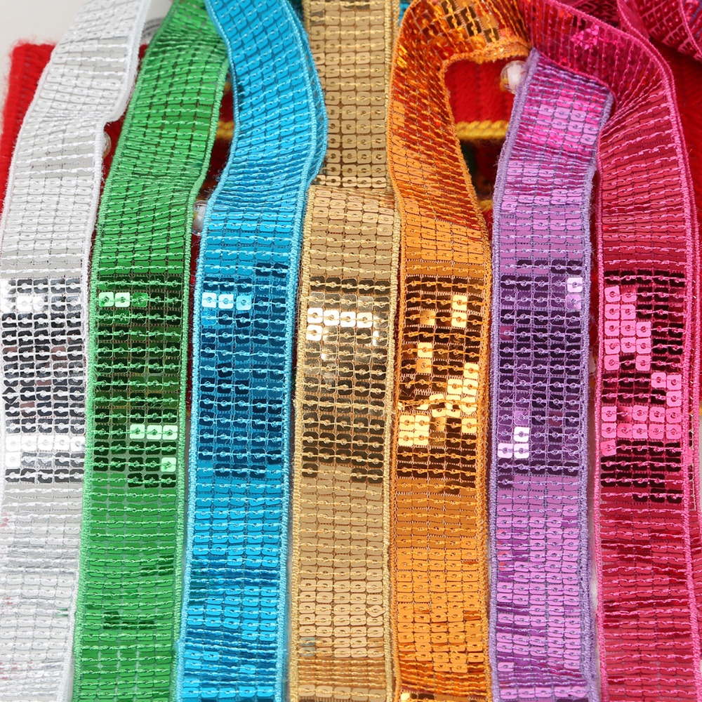 Shiny Beading Sequins Ribbons For Dancing Costume Stage Garments Hat Lace Trim